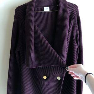 CAbi Plum Cardigan Sweater